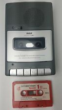 Vtg Rca Rp3503-B Personal Portable Recorder Cassette Player Built-in Mic Tested
