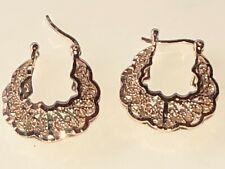 825 GOLD (19K) Filigree Pierced Earrings