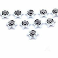 10pc White Black Durable Golf Shoe Soft Spike Pins Thread Replacement for Adida: