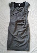 LK Bennett Tweed Wool Tina Sheath Dress Black White US 8 UK 12