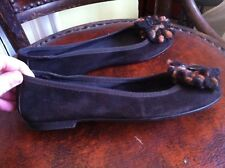 Lote Para Mujer Zapatos Bailarina Bombas Español De Gamuza Marrón 4/37