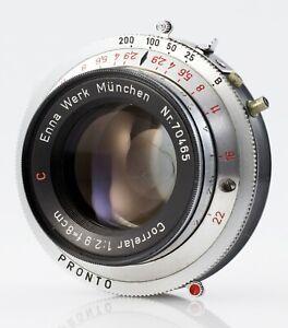 ENNA-WERK MÜNCHEN Lens CORRELAR 1:2,9 f=8cm Red C 2.9/80 PRONTO Shutter 80mm 2.9