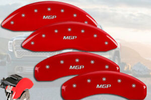"2007-2014 GMC Yukon / XL 1500 Front + Rear Red ""MGP"" Brake Caliper Covers 4pc"