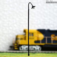 10 Stück Modellbahn Laternenpfähle Led Straßenlaterne Lampen Spur O #601