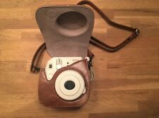 Leather Strap Bag Camera Cover Case Protector Fujifilm Fuji Instax Mini 8 Coffee