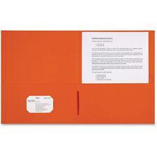Sparco 2-Pocket Portfolio 25/Bx Bright Orange 78551