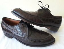 Edwin Clapp Size 9 Alligator Norwegian Midcentury Handsewn Split Toe Dress Shoes