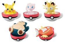 Bandai Pokemon Sun&Moon Tea Cup Time 2 Mascot Figure set of 5 Mew Meowth Kabigon
