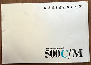 Original Hasselblad 500 C/M Instruction Manual, English
