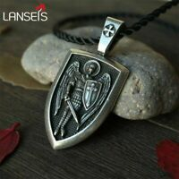 Archangel St. Michael Pendant Protection Charm Russian Orthodox Saint Necklace
