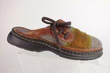 BORN Twill Brown Sz 8 M Women Mule Slip-On Loafers