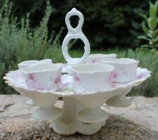 ancien service de coquetier en porcelaine