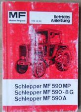 Massey Ferguson Schlepper MF 590 MP , MF 590 - 8 G , MF 590 A Betriebsanleitung