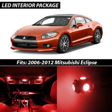 2006-2012 Mitsubishi Eclipse Red Interior LED Lights Package Kit