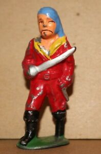 1940s BARCLAY PIRATE WITH SWORD B154 714  SOME PAINT LOSS FREE US SHIP