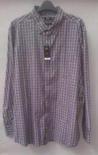 New Men's F&F Shirt – Regular Fit Polycotton Check Long Sleeve – Size XXL