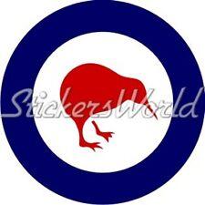 """NEW ZEALAND AirForce RNZAF Kiwi Roundel 4""""/10cm Sticker"""