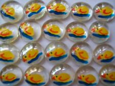 GLASS GEMS HP HAND PAINTED PARTY FAVORS  rubber ducks duckies
