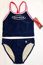 NEW TYR Women's Guard Diamaxback Workout NAVY BLUE 2 pc Tankini Swim Suit MEDIUM