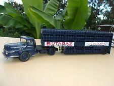 UNIC ZU 120 T  Semi Remorque BUTAGAZ Transport de Bouteilles de Gaz 1/43 Neuf