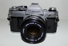 35mm Canon AE-1 Film Camera with FD 50mm F1.8 Lens - VGC Works Great