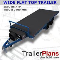 Trailer Plans - 4.8m FLAT TOP TRAILER PLANS - PLANS ON USB FLASH DRIVE