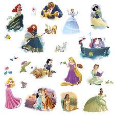 New 22 DISNEY PRINCESS DREAM BIG WALL DECALS Cinderella Rapunzel Belle Stickers