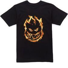 Spitfire Wheels 451 Flames Skateboard T Shirt Black Medium