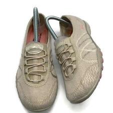 Skechers Relaxed Fit Size 8 Beige Slip On Walking Synthetic Wmn Shoe