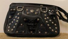 Versace Leather Studded Rivet Medusa Small Shoulder Purse (ML1007622)