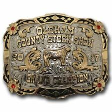 """Champion's Choice Custom Made Trophy Belt Buckle for Awards- """"The Channing"""""""
