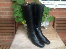HOTTER MOZART BLACK REAL LEATHER KNEE HIGH BOOTS SIZE 6.5