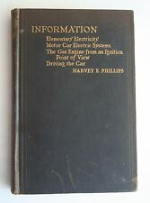 Information Elementary Electricity Motor Cars Elec System by H.E. Phillips 1919