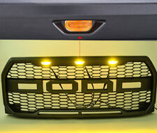 For 2015 2016 2017 Ford F150 Raptor Conversion FORD Letter Grill LED Light