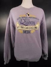 Cool Women's Small Big Dogs Mom Purple Long Sleeve Sweatshirt GUC w/ Her Royal