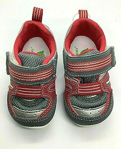 Tsukihoshi Baby02 NEKO US 4 gray and red athletic shoe