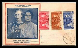 GP GOLDPATH: ST. CHRISTOPHER & NEVIS COVER 1937 FIRST DAY COVER _CV757_P11