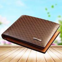 Men's Leather Briefcase Wallet Pocket Card Holder Clutch Bag Bifold Slim Purse