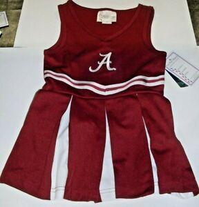 NCAA Alabama Crimson Infant Cheer Dress 1-pc 4T Two Feet Ahead