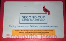 """SECOND CUP COFFEE CO. CANADA GIFT CARD """"CARDINAL"""" NO VALUE NEW COLLECTIBLE 2015"""