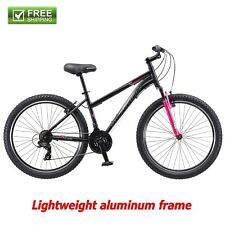 "Schwinn Mountain Bike Women 26"" Black Pink Shimano Aluminum Frame Bicycle New!"