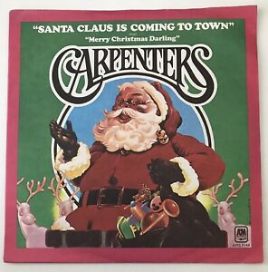 """THE CARPENTERS - 1974 - """"SANTA CLAUS IS COMING TO TOWN"""" - AMS 7144 - *EX/EX*"""