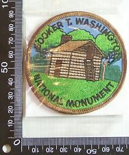 VINTAGE BOOKER T WASHINGTON MONUMENT EMBROIDERED PATCH WOVEN CLOTH SEW-ON BADGE
