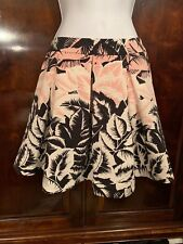 EXPRESS floral skirt Size 2 pink/black/white With Wide Planks