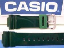Casio Watch Band DW-6900 CC-3 Shiny Green G-Shock 16mm Resin Watchband Strap