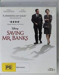 Saving Mr Banks Blu-Ray - Ex Rental - Free Post
