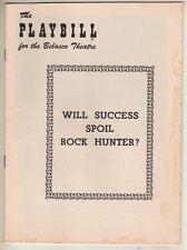 "Jayne Mansfield Playbill 1956  ""Will Success Spoil Rock Hunter?"" Walter Matthau"