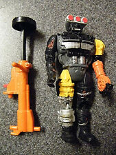 Crash Dummies Jack Hammer 1992 figure + hydraulic pump weapon w/  Xerox bio card