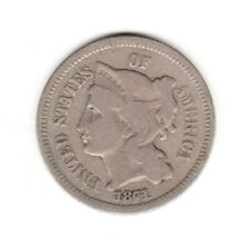 1871 3C Three Cent Nickel  Philadelphia Mint