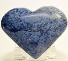 "2.5"" Blue Dumortierite Heart Natural Sparkling Mineral Polished Crystal - Peru"